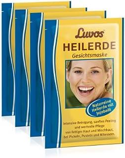 Luvos Gezichtsmasker met jojoba-olie (verpakking van 4 stuks), gebruiksklaar gezichtsmasker voor verzorging en reiniging (...