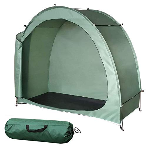 Outdoor Bike Storage Shed Tent All Season Weatherproof Anti Dust Reusable Portable Bike Shed for Garden Outdoor Storage Mountain Bike Scooter and Other Items Green 20080165Cm
