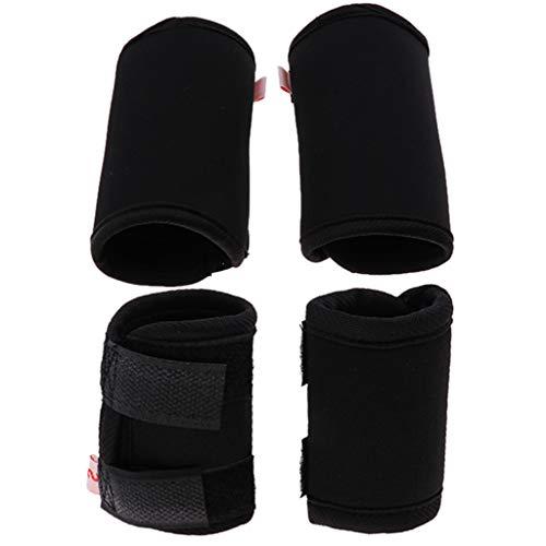 perfk 4 Stück Hunde Gelenkschutz Bandage Ellenbogenschutz Hinterbein Sprunggelenk Bandage, schwarz