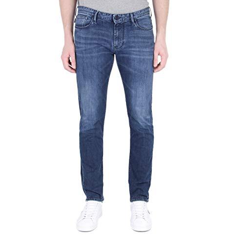 Armani Hombres J06 Slim fit Jeans Regulares 52 BLU