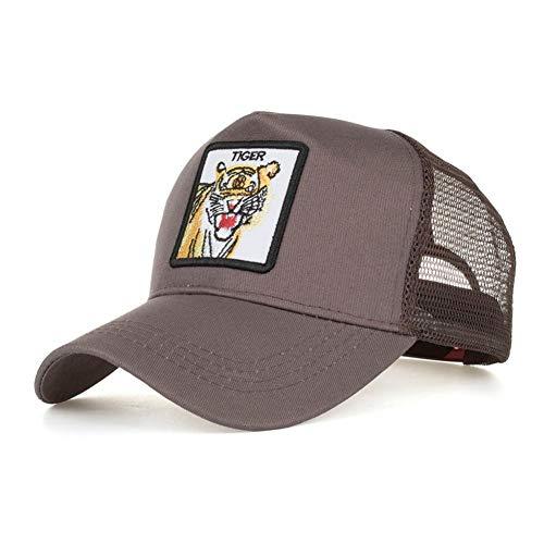 Preisvergleich Produktbild KUANGLANG Frühling Sommer Tier Stickerei Mesh Baseball Cap Mode Outdoor Snapback Sport Freizeit Hut