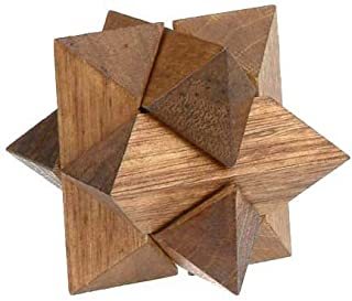 Classic 3D Star Jigsaw Wooden Puzzle, Brain Teaser, Gift Boxed by Sunline