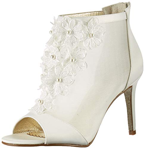 Adrianna Papell Women's AIDA Ankle Boot, Ivory, 10 M US