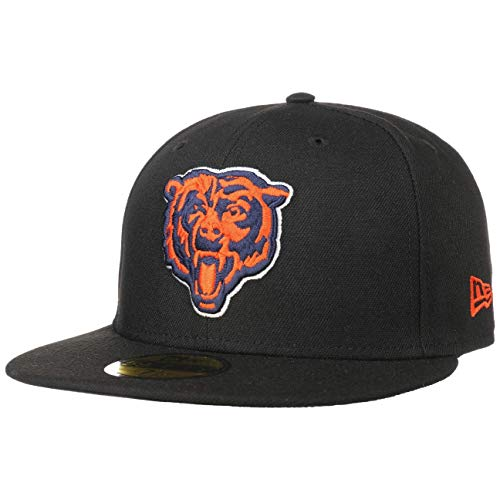 New Era Chicago Bears Head Logo Black NFL Cap 59fifty 5950 Fitted...