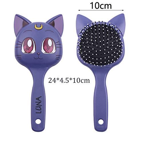 Bosi General Merchandise Schminkspiegel, Sailor Moon Cosplay AnimeKostümzubehör, ModeGroßkamm, süße Katzenbürste, kosmetischer Schminkspiegel