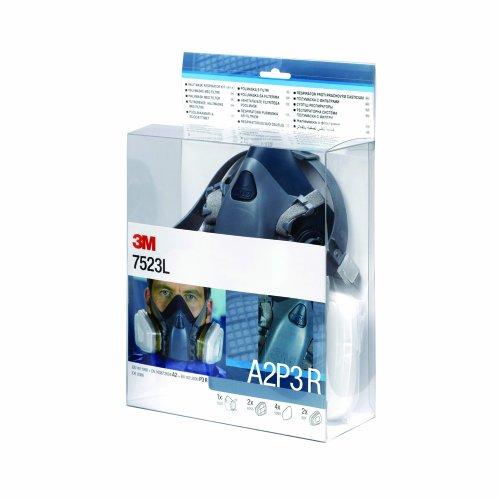 3M 7523L Respiratore a mezza maschera con kit filtro