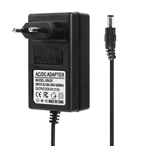 Adaptador de Fuente de Alimentación, Everpert 8.4V 2A 18650 Cargador de Batería de Litio DC5.5mm Adaptador de Corriente Cargador (UE)