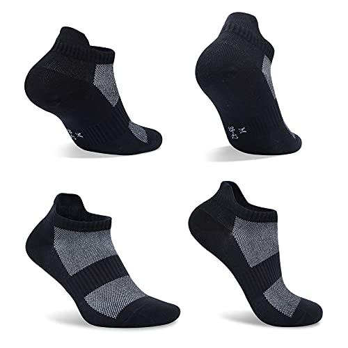 FARCHAT 10 Paar Socken Damen 39-42 Sneaker Schwarz Herren Laufsocken Baumwollesocken Kurzsocken Kurze Unisex