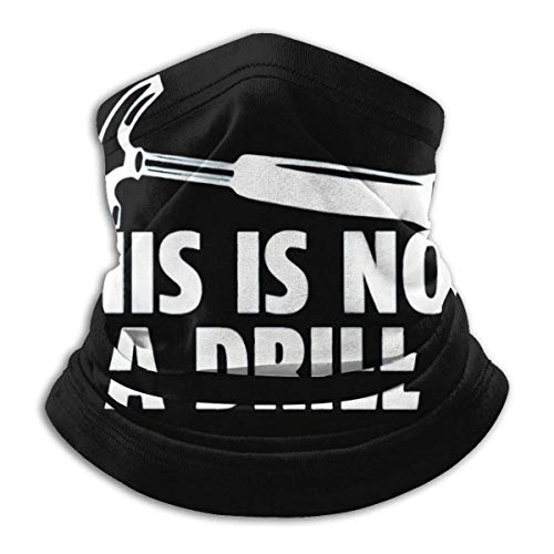 Neck Warmer This is Not A Drill Windproof Balaclava for Men Women Black