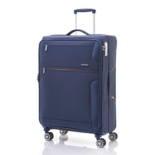 ソフトキャリー | SAMSONITE (サムソナイト) American Tourister (アメリカンツーリスター) Crosslite (クロスライト) Spinner 66cm AP5*21002 ファスナー/ジッパー ブルー