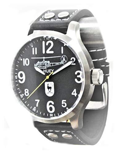 IMC Fliegeruhr 60 Jahre LTG Huey Männer Herren Armbanduhr Uhr Lederarmband Gehäuse aus Edelstahl