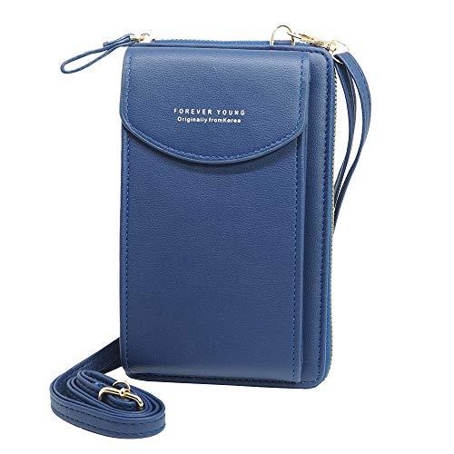 Bolso para Teléfono Móvil Forever Young Azul Marino · Bandolera Cruzada Mini Bolso de Cuero Sintético con Ranura para Tarjetas