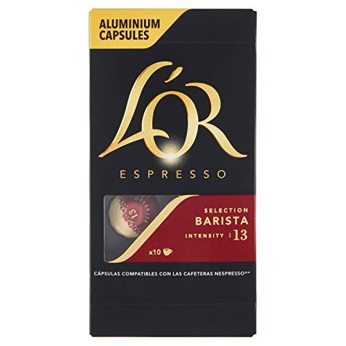 L'OR Barista Selection Café Cápsulas Compatibles con Nespresso 10 Unidades, 1 x 52 g
