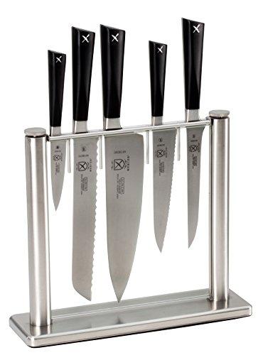 Mercer Culinary Zum 6-Piece Knife Block Set, Stainless...