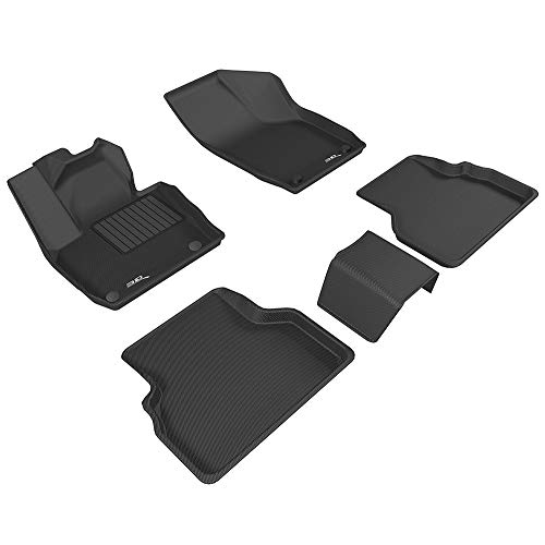 3D MAXpider Complete Set Custom Fit All-Weather Floor Mat for Select Audi Q3 Models - Kagu Rubber (Black)
