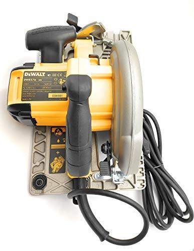 DeWalt DWE576KR-QS Handkreissägen-Set mit Führungsschiene/Tischkreissäge, verstellbarer Werkstückanschlag, Zusatzhandgriff, inklusive Paralellanschluss und Sägeblatt, 1600 W, 230 V - 6