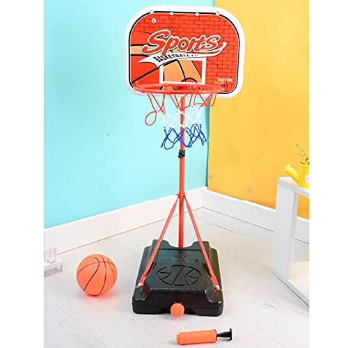 PBTRM Canasta Baloncesto Infantil Aro Baloncesto para Niños, Altura Ajustable 91 Cm A 151 Cm, Juguetes Interior Aire Libre Mini Aro Baloncesto Regalos para Niños Niñas Jóvenes
