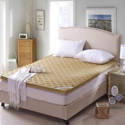Yuan Ou Mattress 4D Breathable Bamboo Mattress Floor Tatami Single Double Student Mattress Topper 150x200cm camel