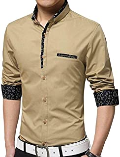 Jeevaan Men's Plain Casual Design Full Sleeve Shirt
