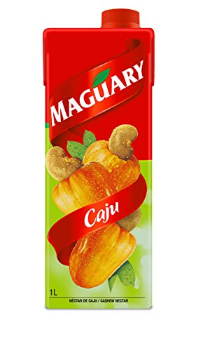 Maguary Cashew Juice - 33.8 FL.Oz | Suco Maguary Sabor Caju - 1L - (PACK OF 01)
