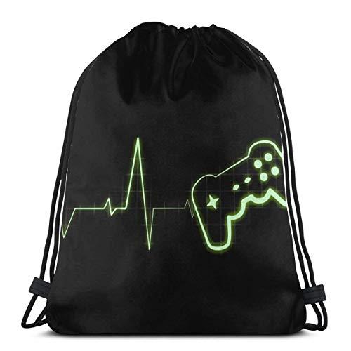 IUBBKI Gamer Beat Drawstring Bag Sport Gym Mochila Almacenamiento Goodie Cinch Bag
