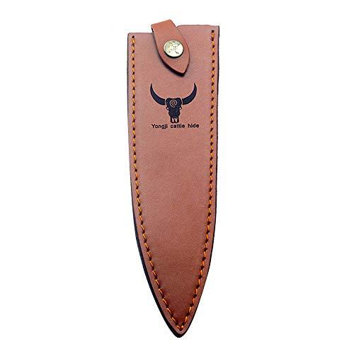 BETTERLE Leder Jagdmesser Scheide Fixed Blade Messer Scheide Tragbare Messer Schutz Jagdmesser Klinge Kantenschutz Messer Abdeckung (S)