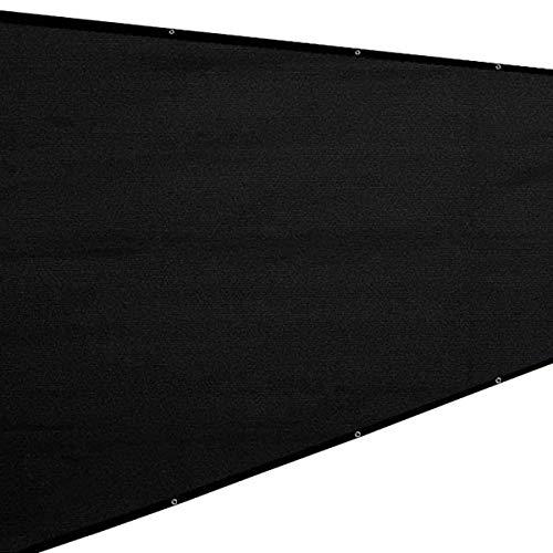 COFFEE CAT Pantalla De Privacidad De Balcón, Escudo De Privacidad, Pantalla De HDPE De 200 G/M² Protección UV Resistente Al Viento, Pantalla De Privacidad De Negro