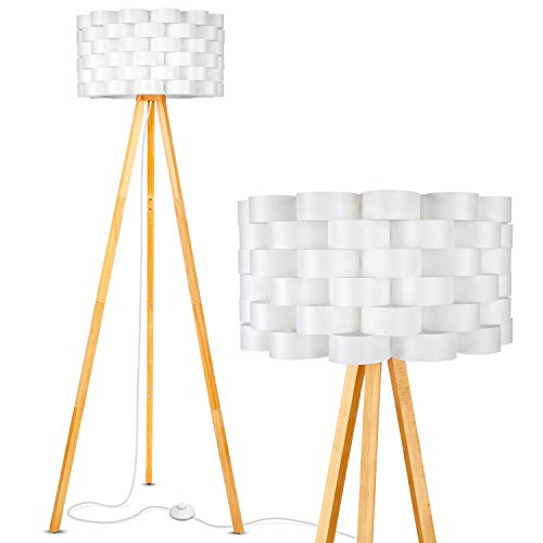 Brightech Bijou LED Tripod Floor Lamp Contemporary Design for Modern Living Rooms – Soft, Ambient Lighting, Tall…