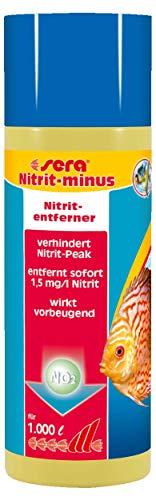 Sera Nitrit-Minus Ayuda de Emergencia con Alto Nivel de nitrito, Elimina inmediatamente 1,5 MG/l de nitritos del Agua del Acuario y en combinación Bio nitrivec Evita la formación de nitritos