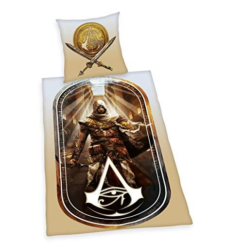 Herding Assassin's Creed Bettwäsche-Set, Baumwolle, Mehrfarbig, 135 x 200 cm