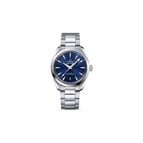 Omega Seamaster Aqua Terra automatico quadrante blu Mens Watch 220.10.38.20.03.001