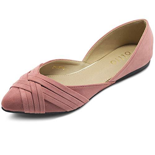 Ollio Women's Shoes Faux Suede Light Comfort D'Orsay...