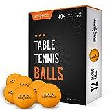 PRO SPIN Ping Pong Balls - Orange 3-Star 40+ Table Tennis...