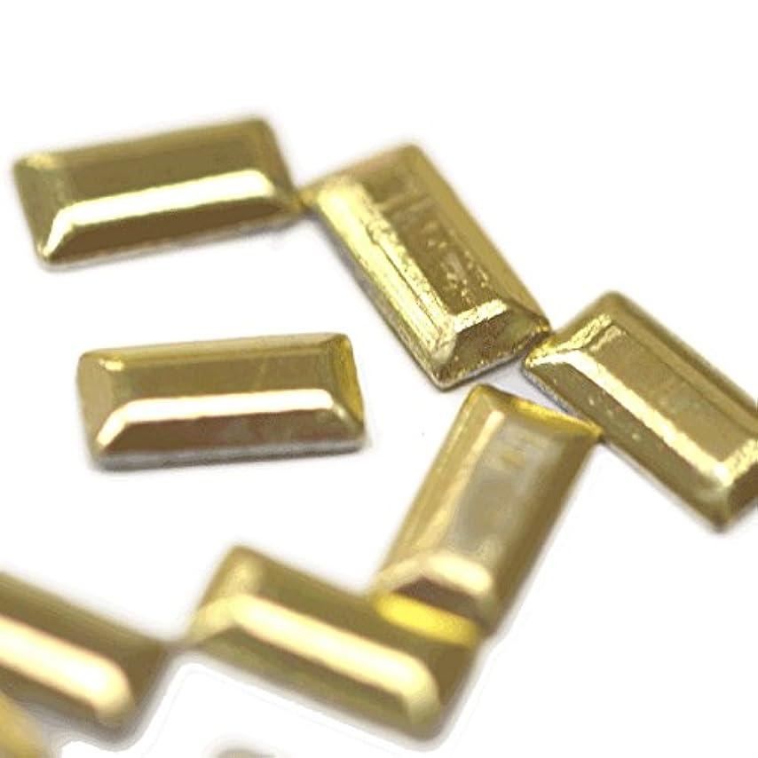 一月不屈受益者メタルスタッズ 2mm×5mm レクタングル ライトゴールド 約20粒