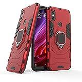 """Max Power Digital Funda para móvil Xiaomi Mi A2 (5.99"""") con Soporte Anillo Metálico - Carcasa Híbrida Antigolpes Resistente (Xiaomi Mi A2, Rojo)"""