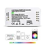 Zigbee Controller RGBW LED Controller Smart Controller Dimmable DC12-24V Controller for Led Strip Light Work with Hub Bridge (1ID RGBW)