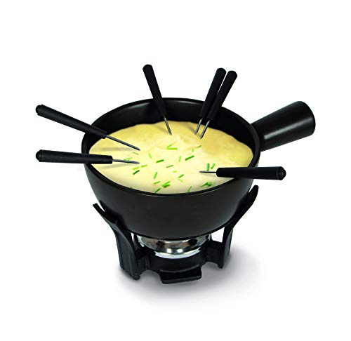 Boska kaas fondue-set Nero, keramiek, bruin/zilver/zwart, 30 x 22 x 19 cm