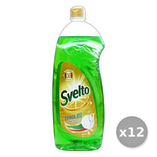 Svelto Set 12 Piatti 1 Lt Limone Turbo sgrassatore Detergenti Casa