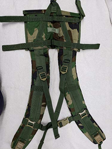 MOLLE II Made in USA Military Army Tactical DCU Woodland Camo Camouflage Back Pack Shoulder Straps by US Goverment GI USGI