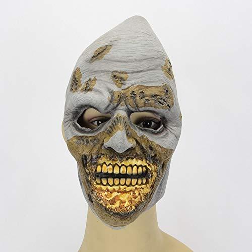 WSJMJ Maskers Griezelig Halloween masker Creepy Maskers griezelige kostuums voor volwassenen latex masker Party Props Decoratie (kleur: grijs, Grootte: grootte)
