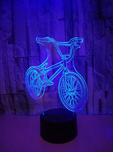 3D Bicycle 3D Night Light, LED Night Light for Kids, Illusion Lamp 16 Colors with Remote Control, Birthday and Holiday Gifts for Children