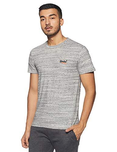 Superdry Orange Label Vntge Emb S/s tee Camiseta, Gris (Alaska Grey Space Dye Xw6), Large para Hombre