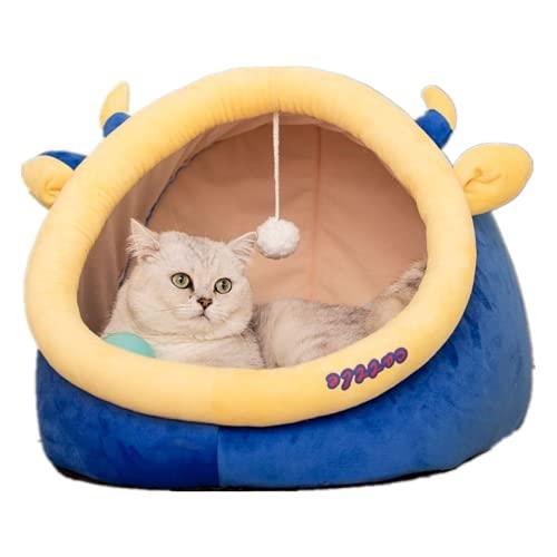 Wandskllss Cama para gatos y gatos, cama para gatos y perros, extraíble y lavable, cama para gatos y perros silenciosa y cómoda (C/M (dentro de 6 kg)