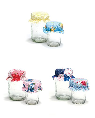 Decorative Jar Bonnets Set by Girl of All Work - 12 Bonnets