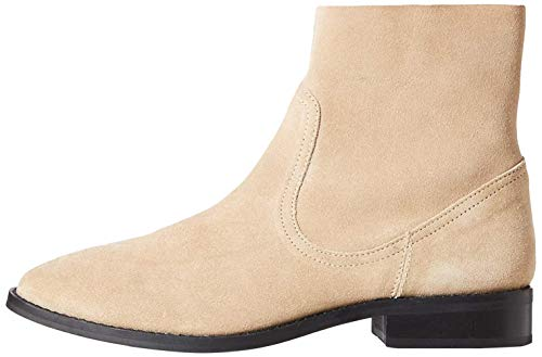 Marca Amazon - find. Unlined Suede Botines, Beige Sand, 38 EU