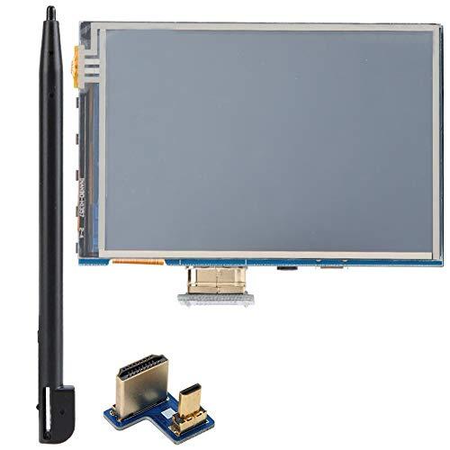 Tosuny Gaming Monitor, Monitor portátil 3.5 Pulgadas 1080P IPS Ángulo de visión Amplio Pantalla LCD táctil Pantalla HDMI Monitor para Raspberry Pi 4B