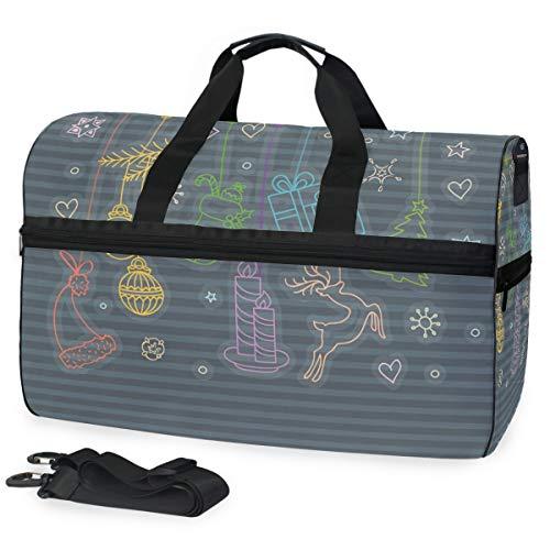 Bolsa de viaje para objetos de Navidad, equipaje de deporte, gimnasio, para...