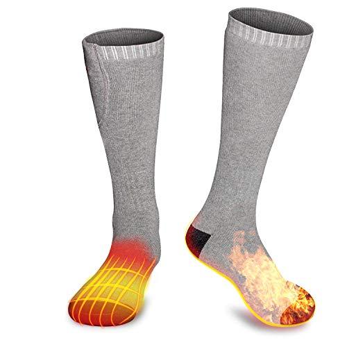 M.Jone Heated Socks, Electric Heating Socks for Men Women, Winter Warm Cotton Socks...