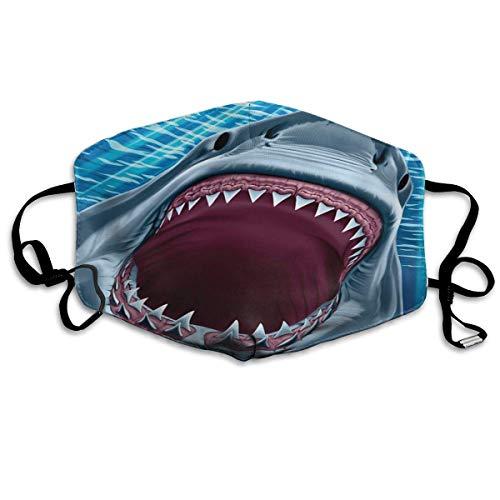 Weißer Hai Männer Frauen Atmungsaktive Komfortable Gesichtsschutzhülle mit Gummiband für die persönliche Gesundheit Verschiedene Anwendungen