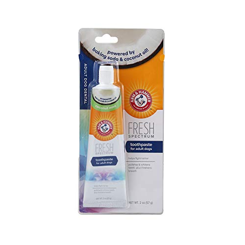 Arm & Hammer Fresh Spectrum Dog Toothpaste for Adult Dogs, 2 oz | Baking Soda Dog Toothpaste Coconut Mint to Fight Tartar, Polish & Whiten Teeth, &...